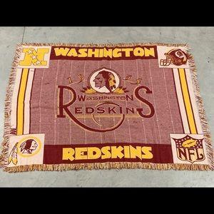 Washington Redskins woven throw blanket